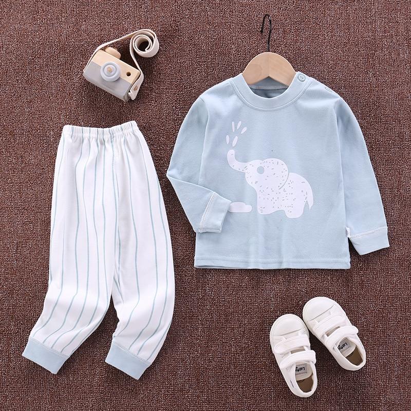 2pcs Autumn Winter Baby Girls Boys Clothes Cartoon T-Shirt + Pant Suit Girls Clothing Set Children Clothing Toddler Boy Clothes