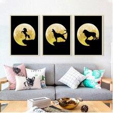 Lion Horse Leopard Moon Landscape 5D DIY Diamond Painting Cross Stitch Nordic Mosaic Posters Animals Wall Pictures Art