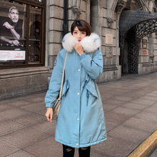 Winter Jacket Women Fur Long Parka Mujer Casual Slim Woman Winter Coats and Puffer Jacket Padded Outwear Long Coat Women цена и фото