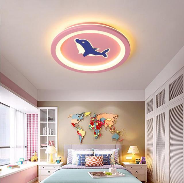 Фото новый потолочный светильник для детской комнаты мультяшный простой цена