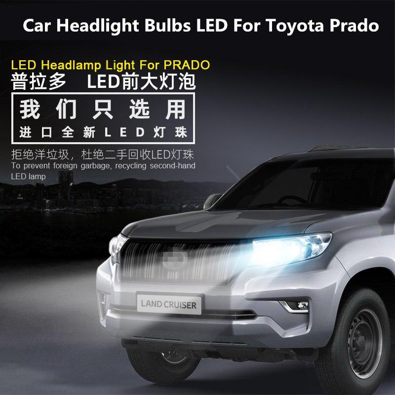 Car Headlight Bulbs LED For Toyota Prado 2014-2020 12V 90W 6000K 360 Degree Prado lights modified LED