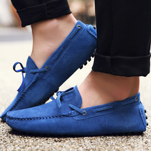 Men Loafers Moccasin Driving-Shoes Casual-Shoes Cow-Suede-Leather Big-Size High-Quality