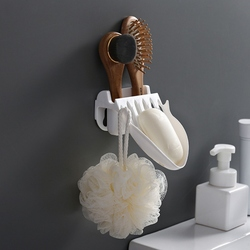 Pojemniki na mydło silny bezszwowy naklejki odpływ łazienkowy z darmowym przepychaczem łazienka domowa naścienne półki na mydło