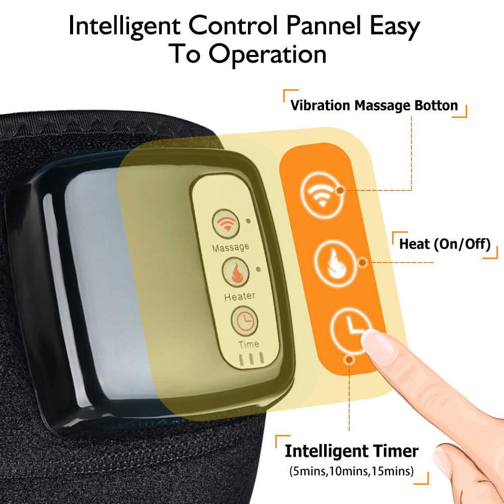 Podgrzewany elektrycznie masażer do kolan dalekiej podczerwieni wspólne wsparcie Brace Vibrador powrót ramię masażer łokieć leczenie kolana massageador