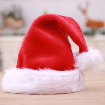 Czapka świąteczna gruby Ultra miękki pluszowy śliczna czapka świętego mikołaja przebranie czapki bożonarodzeniowe nadaje się dla dorosłych i dziecięca czapka zimowa tanie i dobre opinie CN (pochodzenie)