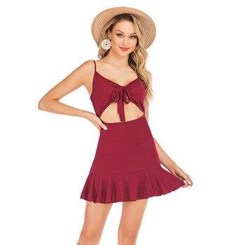 Women Nightgown Spaghetti Strap Night Wear Sexy Nightdress Sleepwear V-neck Nightie Nighty Suspender Skirt Sleepshirts Robe