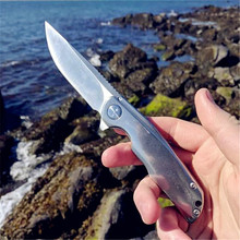 New 3720 pocket folding knife 8cr13mov blade all steel handles outdoor camping Tactical equipment tactical survival EDC