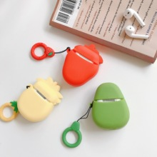 Fruit Bluetooth Earphone Case For Apple Airpods Silicone Headphones Cases earphone Protective Cover