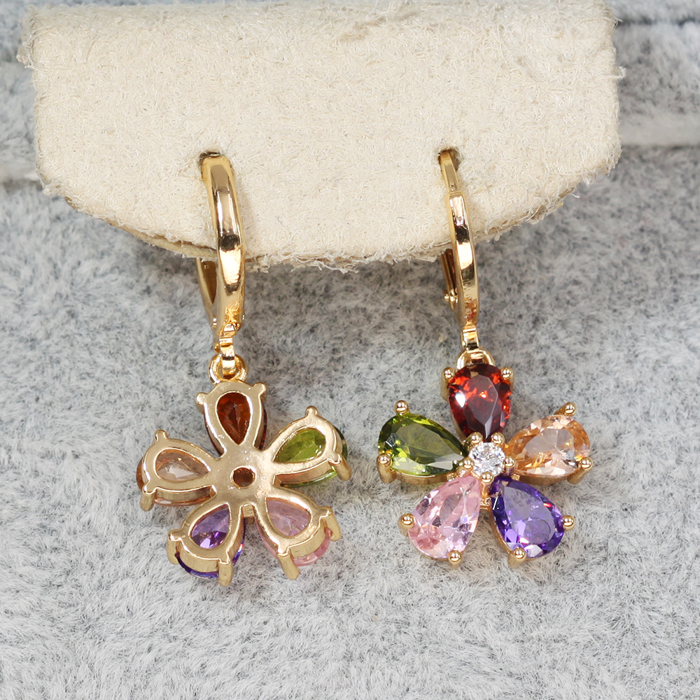 H2eade8bce9d1405cbf5666e5da32593eo - Trendy Vintage Drop Earrings For Women Gold Filled  Red Green Pink Lavender Zircon Earrings Gold  Earring Wedding  Jewelry