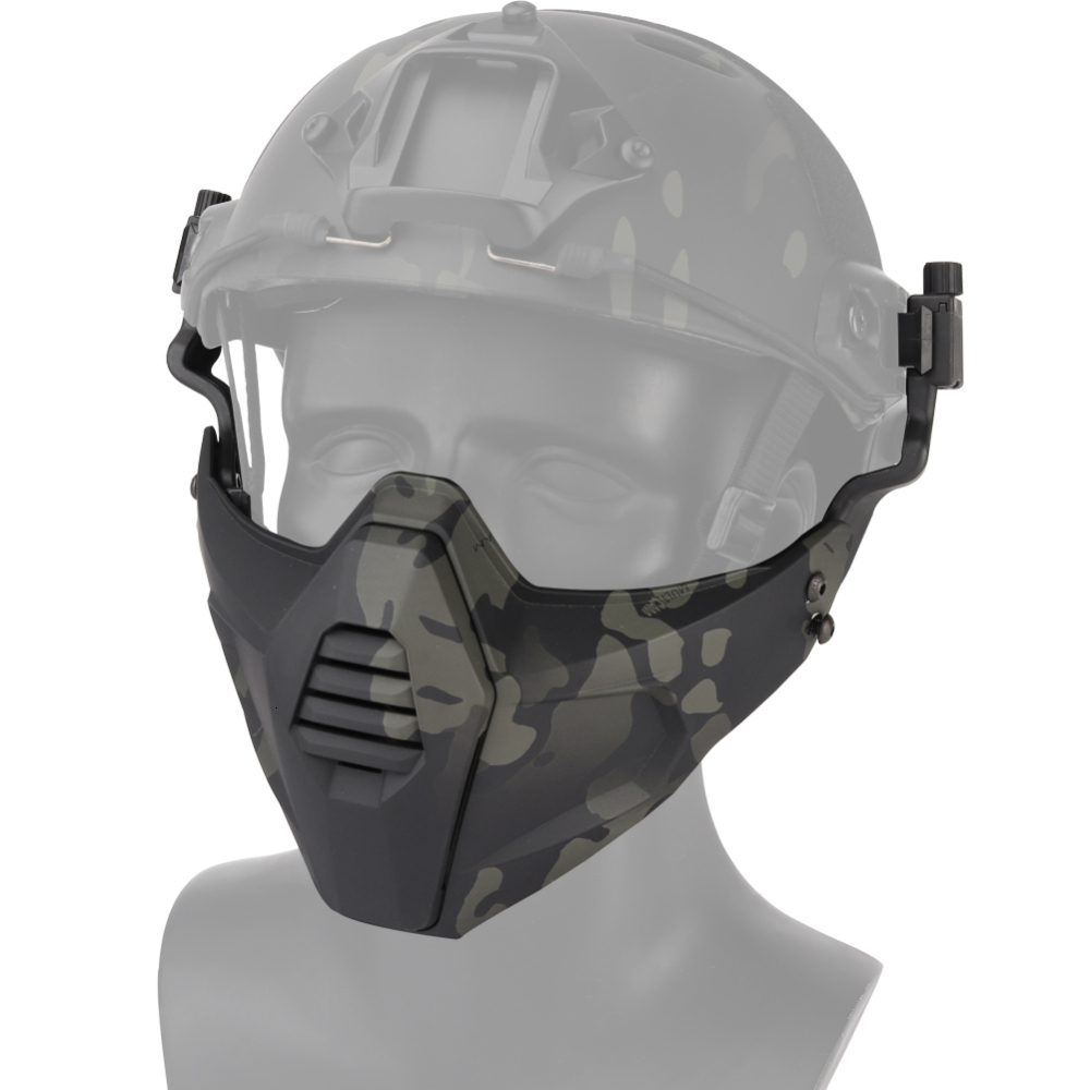 Tactical Paintball Mask Half Face Protective Military Goggles Gel Blaster BB Gun Shooting CS Hunting Accessories For Helmet