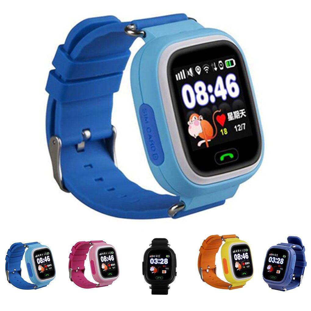Q90 GPS Child Smart Watch Phone Position Children Watch 1.22 inch Touch Screen WIFI SOS Smart Kids Watch