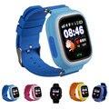 Q90 GPS Kind Smart Uhr Telefon Position Kinder Uhr 1 22 zoll Touch Screen WIFI SOS Smart Kinder Uhr-in Smart Watches aus Verbraucherelektronik bei