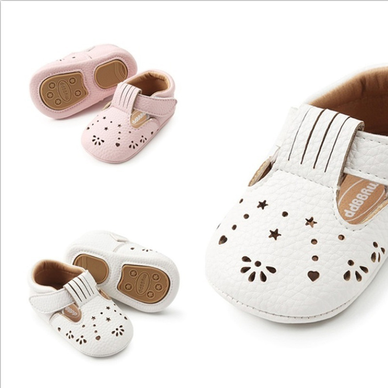 Baby Girl Shoes Infant Sweet Princess PU Breathable Rubber Soft Anti-slip Sole Toddler Girl Moccasins Crib Shoes New Fashion