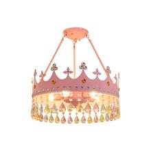 Children's room crown crystal chandelier girl boy modern minimalist princess room lamp bedroom lamp