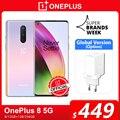 Глобальная версия OnePlus 8 5G смартфон 8 ГБ 128 Snapdragon 865 6,55 ''90 Гц жидкости Дисплей 48MP тройной OnePlus официального магазина Carter's NFC