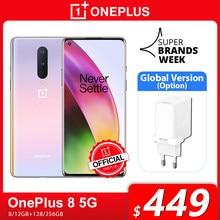 Versión Global OnePlus 8 5G teléfono inteligente 8GB 128GB Snapdragon 865 de 6,55