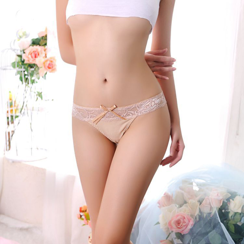 2020 Sexy Women's Lace Transparent Briefs Seamless Panties V String Lingerie Panty Underwear Girls Thongs