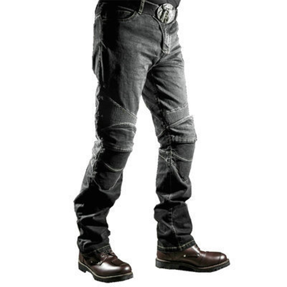 Ripped Jeans for Men Motorcycle Riding on The Road Fall Jeans Four-piece Protection Skinny Jeans for Men Streetwear Pencil Pants