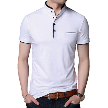KOSMO MASA Slim Fit Casual Polo Shirt Men Cotton Short Sleeve Collar Mens Shirts Summer Top Male For MP0006 - discount item  40% OFF Tops & Tees