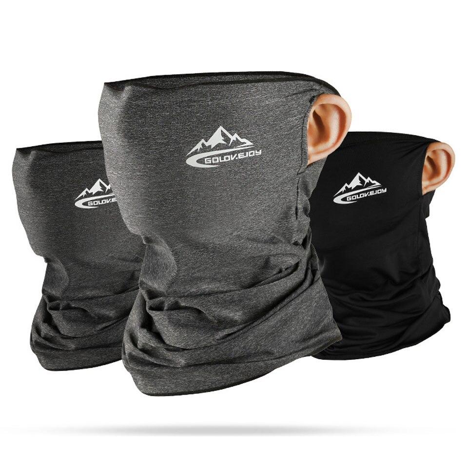 Spor ve Eğlence'ten Bisiklet Yüz Maskesi'de İlkbahar yaz bisiklet yarım yüz maskesi cilt serin buz ipek nefes UV koruma spor şapkalar bisiklet bandı maskesi title=