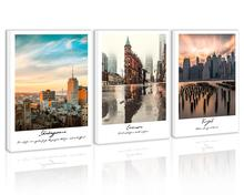 Sunset America City Wall Art Decor Times Square New York Building Canvas Painting Skyline Street People Print Pictures for Home between home декоративная подушка new york times beige