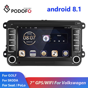 Podofo 2din Android Car Radio for Volkswagen 7 GPS Wifi FM autoradio 2DIN Car Multimedia Player For Skoda/Golf/Polo Car Stereo image