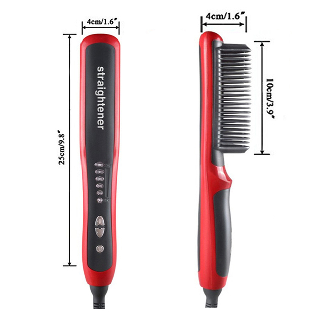 Multifunctional Hair Straightening Heat Hair Ceramic Curler Electric Straightener Hot Comb Hair Care for Men Beard Straightener 4
