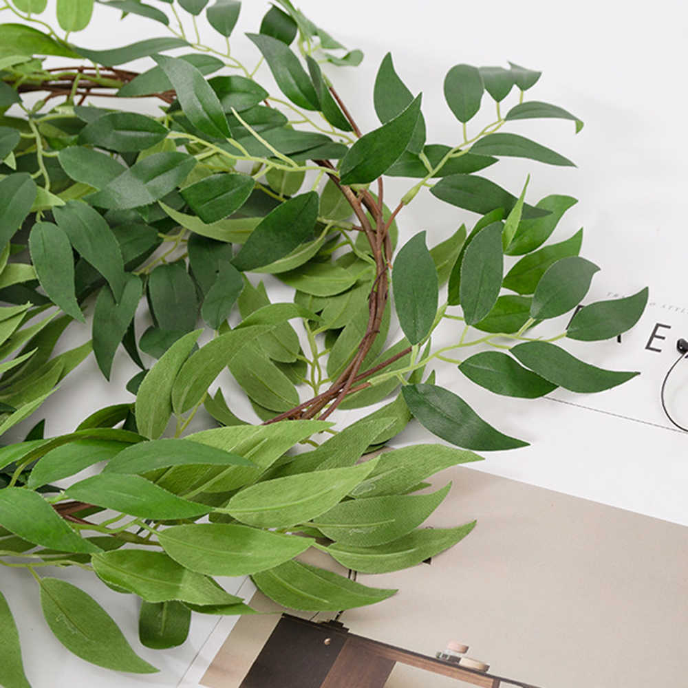 6 стилей искусственные листья Моделирование Плетеная зеленый лоза с листьями Свадебные завод ротанга домашний декор праздничные поставки 180 см