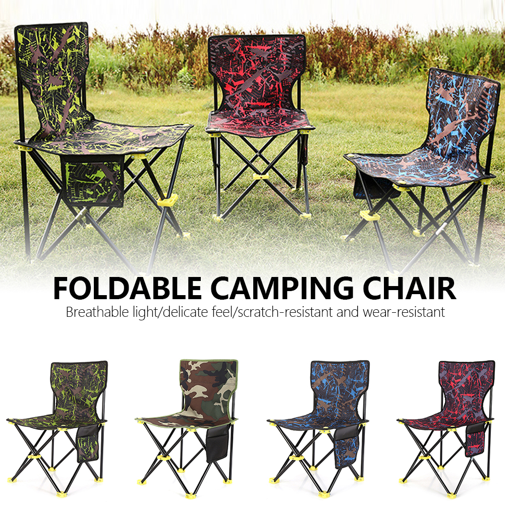 Foldable Camping Chair Sets Outdoor Picnic Table Portable Fishing Chairs Camouflage Blue Color One Table Two Chairs Furniture
