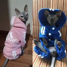 Sweat à capuche pour chat mignon, vêtements chauds d'hiver pour animaux de compagnie, Sphinx Katten, tenue Ropa Para gatos Kedi gijim
