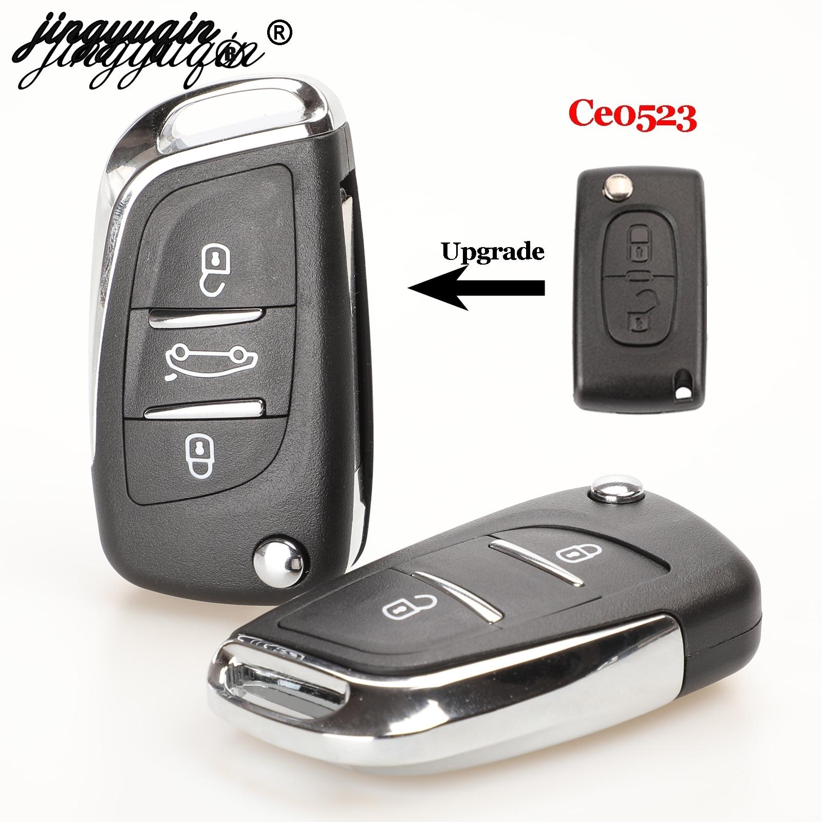 Jingyuqin Ce0523 Moodifend дистанционный Автомобильный ключ для Citroen C5 C4 Coupe VTR C6 C8 C2 Berlingo Xsara Picasso CE0523 VA2/HU83 2/3B