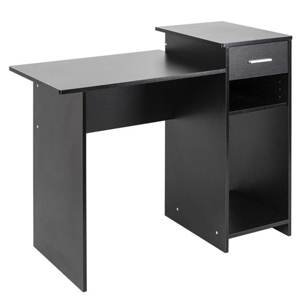 High-quality Integrated Melamine Board Computer Desk With Drawer 8526 Black PC Computer