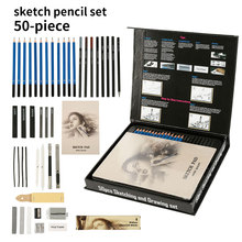 Pencils-Set Art-Supplies Calligraphy-Painting-Tool Draw Wood Manga Sketch Professional
