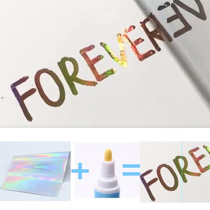 Laser Silver Hot Stamping Foil Paper Holographic Laminate Foil Transfer for DIY Art Craft Christmas Pen hot stamping foil