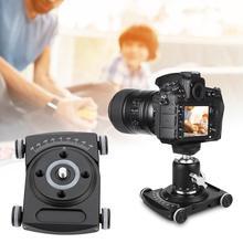 カメラsildersビデオドリーテーブルトップドリー車のローラーデスクトップビデオレールトラックスライダーdslrリグフィルムカメラスマートフォンvlogging