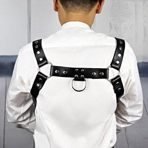 Image 5 - UYEE Erotische Leder Harness Punk Gürtel Für Männer Gothic Körper Bondage Custome Käfig Sexy Brust Strumpfband Gürtel Dessous Clubwear LM 003