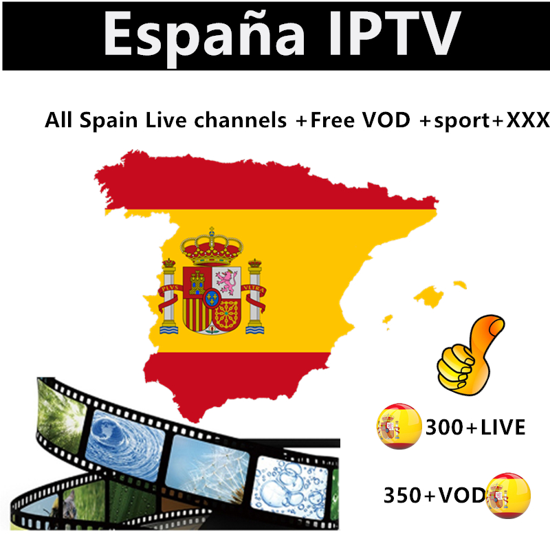 Europe IPTV Spain M3u  Subscription Espana Spanish 4K DAZN Movistar Sport Cinema Box Adult  For Smart TV Box Android 9.0 X96 Max