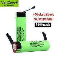 2021 nuovo originale NCR18650B 3.7 v 3400mah 18650 batteria ricaricabile al litio saldatura batterie foglio di nichel