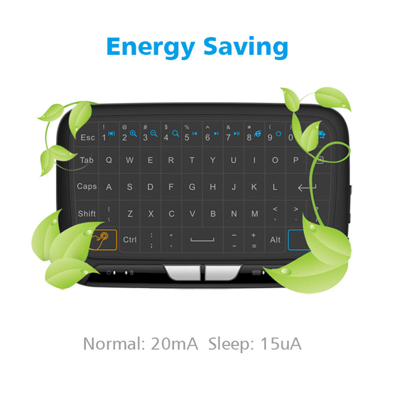 M-H18 Pocket 2.4GHz Wireless Touchpad Keyboard With Full Mouse For Android TV Box Kodi HTPC IPTV PC PS3 Xbox 360 SP99