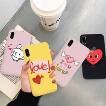 JAMULAR Cartoon Love Heart Rabbit Phone Case For iPhone X XS MAX XR 7 8 6 6s Plus Funny Letter U Back Cover Soft TPU Fundas