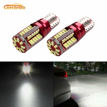 купить Carcardo T10 W5W LED Light Car Bulb T10 LED Canbus Lamp 57SMD LED Car Light T10 W5W 194 Clearance Light No Error Car Marker Lamp дешево