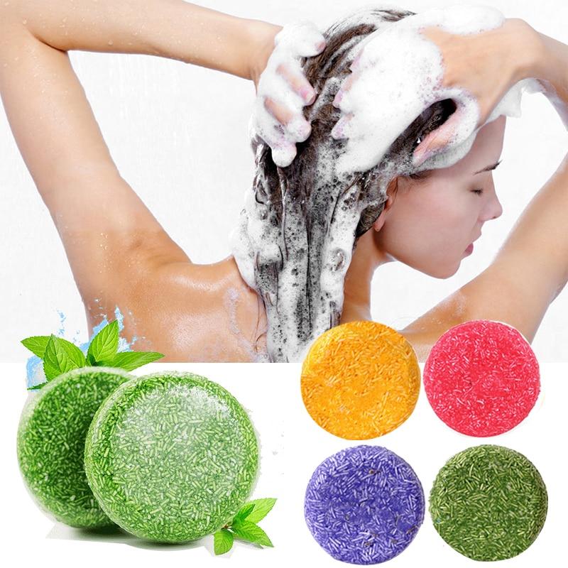 Handmade Hair Shampoo Soap Natural Plant Essence Fragrance Shampoo Soap Oil-control Anti-Dandruff Moisture Supple Hair Care