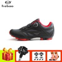 Tiebao mountain bike sapatos de ciclismo mtb spd pedais auto travamento respirável superstar equitação corrida de bicicleta tênis|Sapatos de ciclismo| |  -