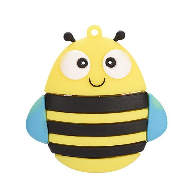 Movimentação criativa da pena da abelha do pendrive 64gb/32gb/16g/8g/4gb da coruja pen drive usb