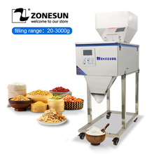 Food-Filling-Machine ZONESUN 3000g for Seeds Coffee-Bean Granular-Powder-Materials