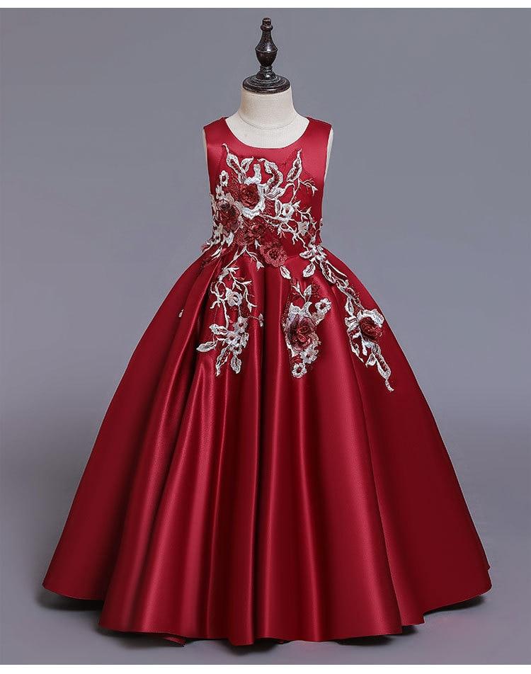 Новое кружевное свадебное платье цветок галстук-бабочка для девочки теннис вечерние банкет вечерние шоу Бальное Платье vestidos de fiesta