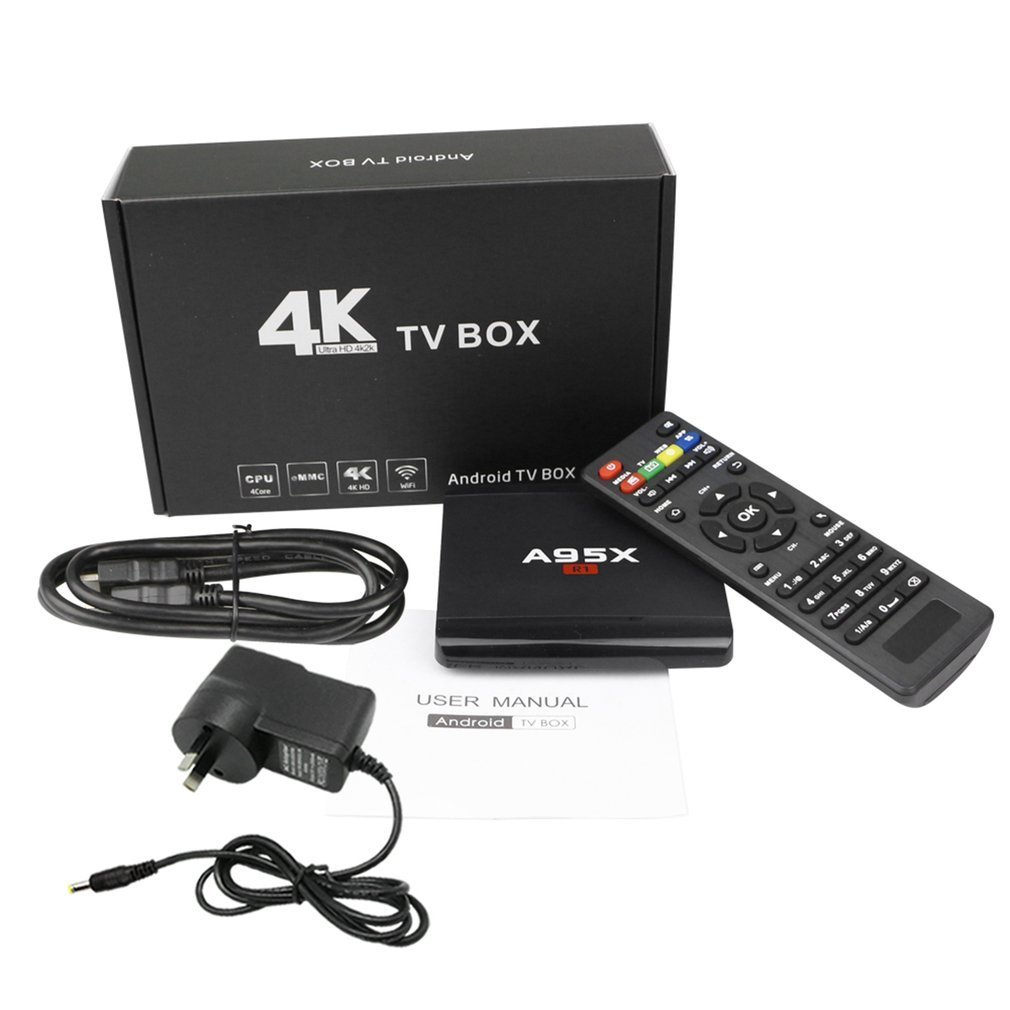 A95X R1 Smart TV Box 1+8G Large Memory Size 4K Ultra HD Quad Core Media Player Set-top Box for Android 7.1