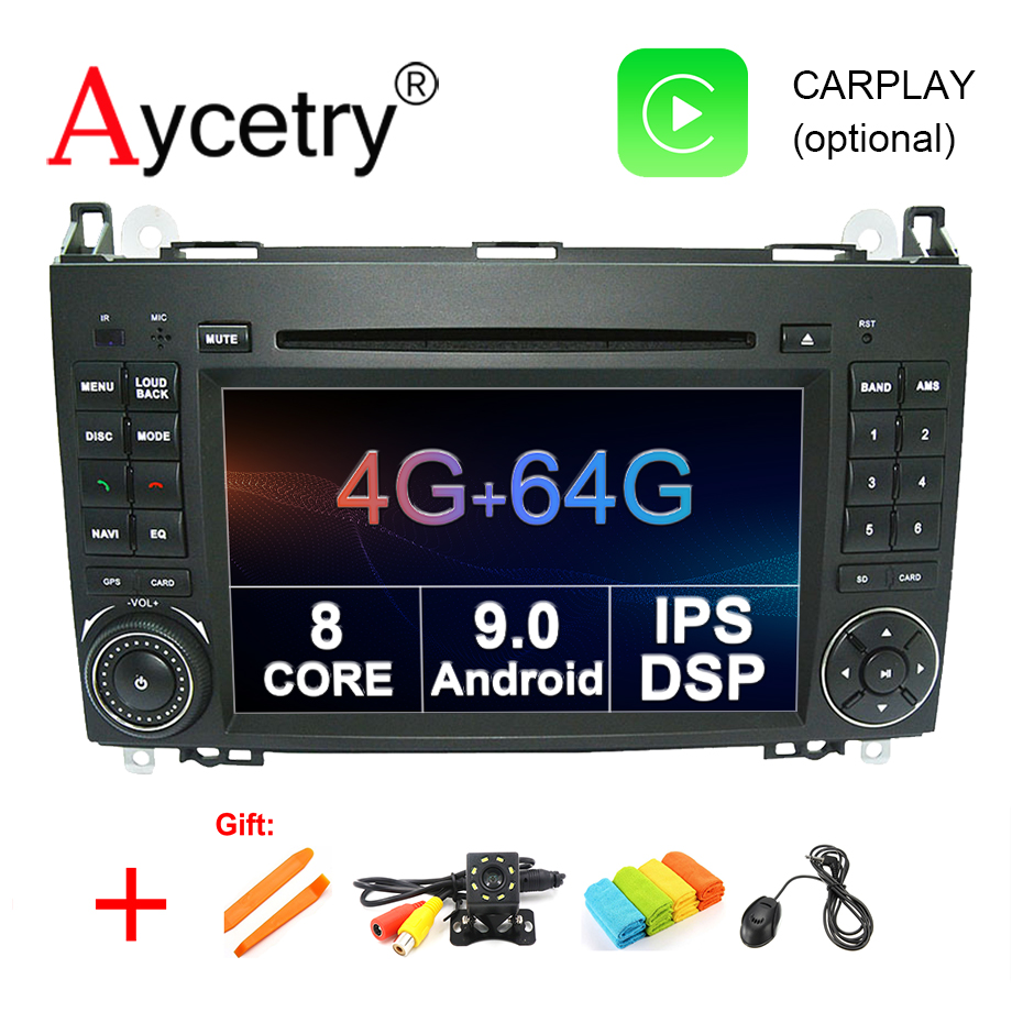 4G 64G Car dvd player 2 din android 9 0 gps for Mercedes Benz B200 A