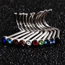 10 pcs Punk Style Piercing Nose Lip Jewelry  Body Jewelry For Man Women Studs 1.8mm Pick Free Shipping
