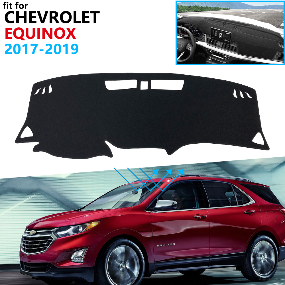 Dashboard Cover Protective Pad For Chevrolet Equinox 2017 2018 2019 MK3 3rd Gen 3 Holden Accessories Dash Board Sunshade Carpet